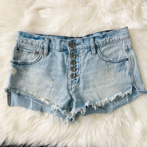 "Free People Pants - Free People | Cutoff Button Fly Denim Shorts ""G"""